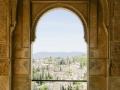 Ausblick auf Albaicin, das alte arabische Viertel gegenüber der Alhambra.