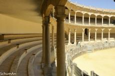 Die Stierkampfarena in Ronda. Bei dieser Architektur kann einem das Herz aufgehen (1)