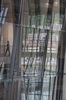 Aufwändige Konstruktion im Inneren des Guggenheimmuseums