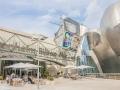 Kaffeehaus vor dem Guggenheimmuseum lädt zum Besuch