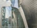 Spiegelung in der Glasfassade des Guggenheimmuseums